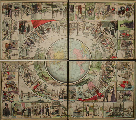 George glazer gallery antiques around the world in 80 days game around the world in 80 days game board gumiabroncs Gallery