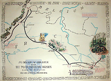 George glazer gallery antique maps set of four world war ii to belgium and back with the 79th infantry division 31 aug to 25 oct 1944 gumiabroncs Choice Image