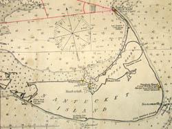 George Glazer Gallery Antique Maps Chart Of Vineyard