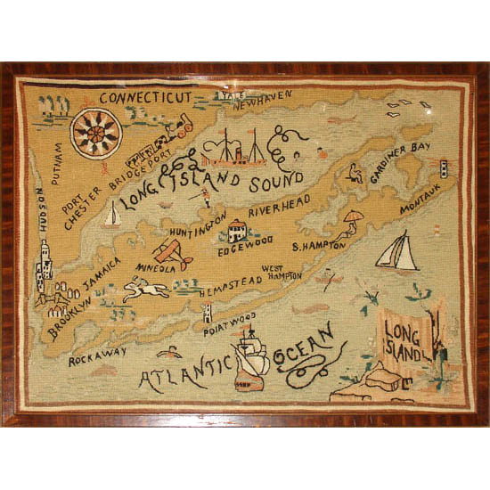 Long Island Needlepoint Map