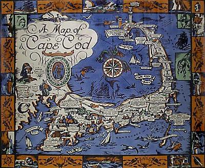 George Glazer Gallery - Antique Maps - Cape Cod Map