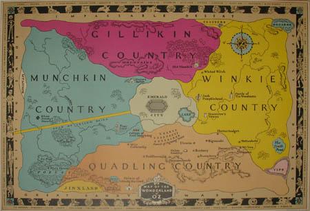 Map of the Wonderland of Oz