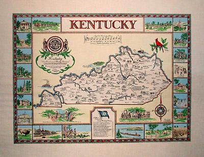 George Glazer Gallery - Antique Maps - Kentucky Map