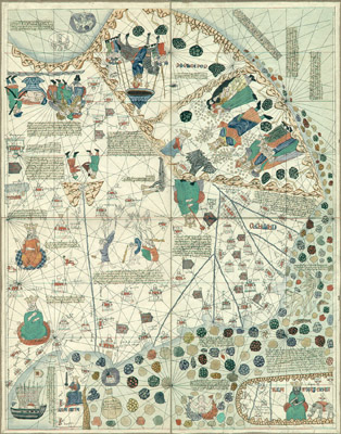 George glazer gallery antique world maps the catalan atlas map of southeast asia and china gumiabroncs Gallery