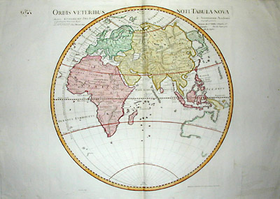 Hemisphere Map Of Europe, Asia U0026 Africa