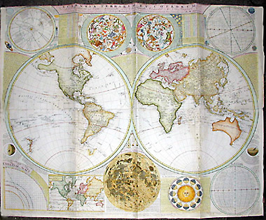 George glazer gallery antique maps double hemisphere wall map of double hemisphere wall map gumiabroncs Choice Image