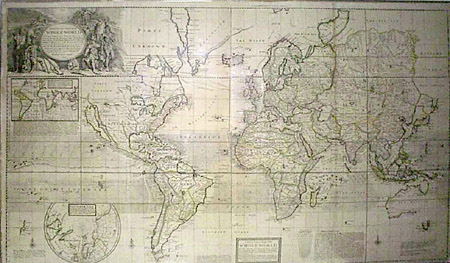 George glazer gallery antique maps herman moll a new correct a new and correct map of the whole world gumiabroncs Gallery