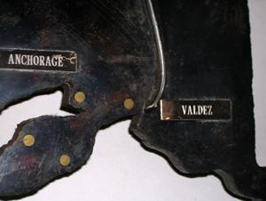 George Glazer Gallery - Antique Prints - Trans-Alaska Pipeline Relic Map
