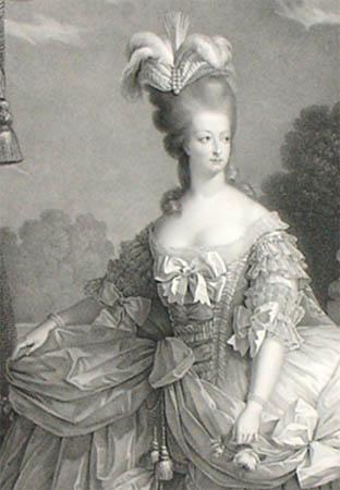 Detail of Marie Antoinette Marie Antoinette Black And White Painting