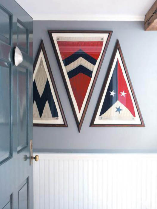 Framed set of yacht flags