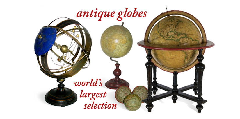 America's largest selection of antique globes