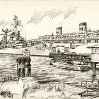Drawings of the San Diego Waterfront