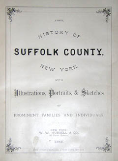 Book, History, Views and Map, Long Island, Suffolk County