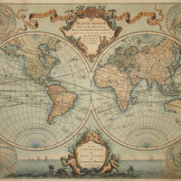 World Map, Double Hemisphere, Mappe-Monde Dressé sur les Observations