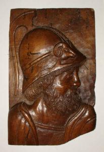 Relief Plaque, Classical Warrior