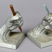 Sculptures, Modern, Pair of Hands Holding Chisels