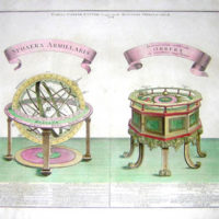 Print, Armillary Sphere and Orrery