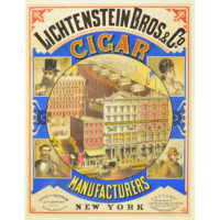 Lichtenstein Bros. & Co. Cigar Manufacturers, New York Poster
