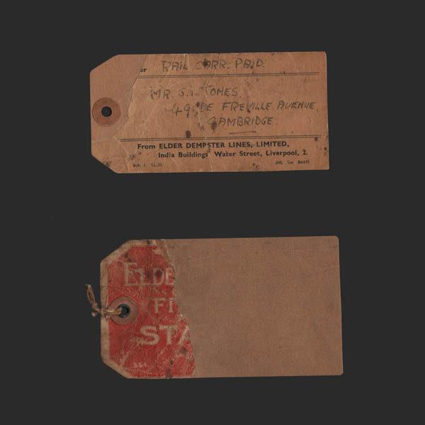 Elder Dempster Lines shipping labels