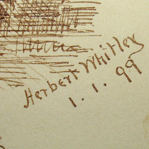 Detail of Herbert Whitley signature