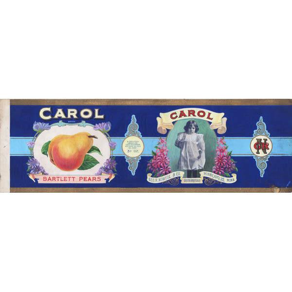 Original illustration art for Carol Brand Bartlett Pears, Geo. R. Newell & Co. Distributors, Minneapolis, Minn.