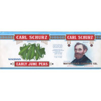 Carl Schurz Early June Peas label design