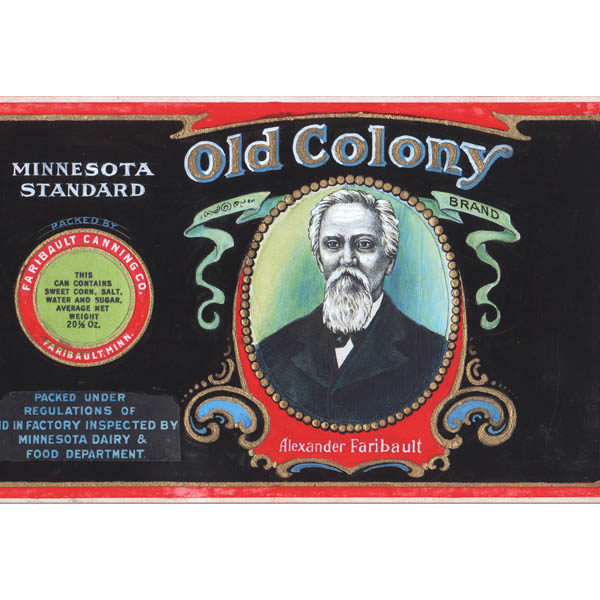 Detail of Label design for Old Colony Brand Sweet Corn, Faribault Canning Co., Faribault, Minn.