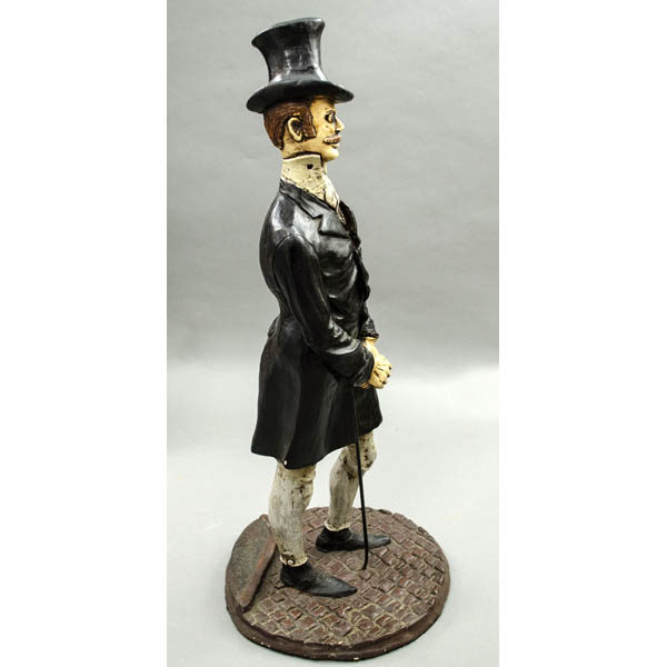 Gentleman Figurine, side
