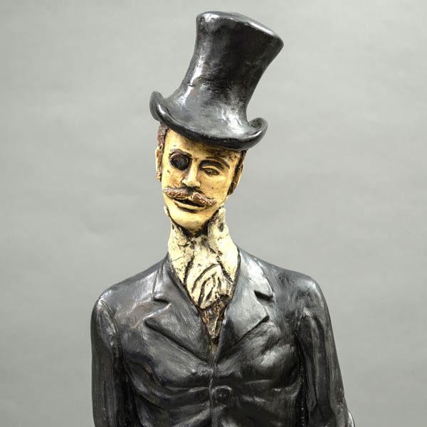 Gentleman Figurine, head