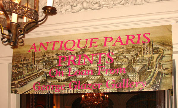 Banner for our display at the Lotos Club.
