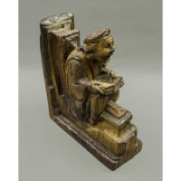 Praying Figure Misericord Chair Armrest