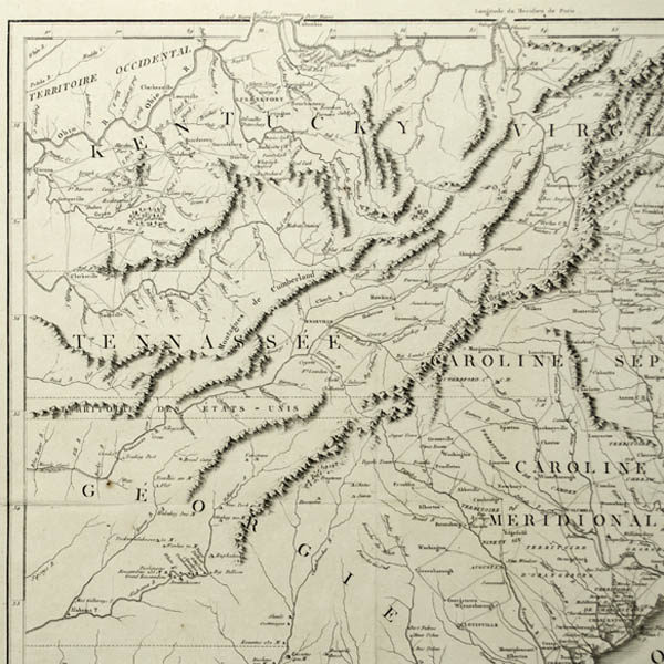 Detail of Kentucky, Tennessee and Georgia