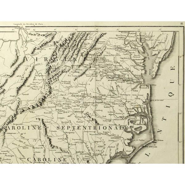 Detail of Virginia and the Carolinas