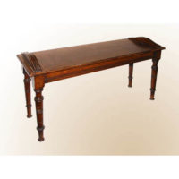 Victorian Oak Hall Bench