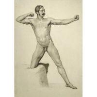 Male Nude, Archer Pose