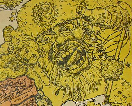 Humoristische Karte Von Europa 1914.George Glazer Gallery Antique Maps Satirical World War I