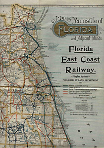 George Glazer Gallery Antique Maps Florida East Coast Railway - Florida east coast map