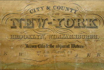 George Glazer Gallery Antique Maps Coltons Rolling Map Of New - Antique maps nyc