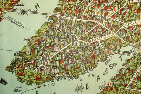 George Glazer Gallery - Antique New York Maps - Nostrand Bird\'s-eye ...