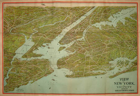 Nyc Subway Map 1910.George Glazer Gallery Antique New York Maps Nostrand Bird S Eye