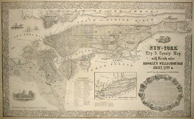 George Glazer Gallery  Antique Maps  New York City and County
