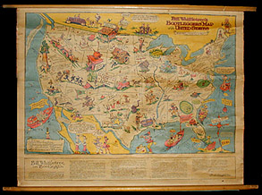 George Glazer Gallery Antique Maps Pictorial And Novelty Maps - Map of the us in the prohibition