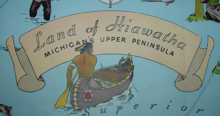 George Glazer Gallery - Antique Maps - Land of Hiawatha ...