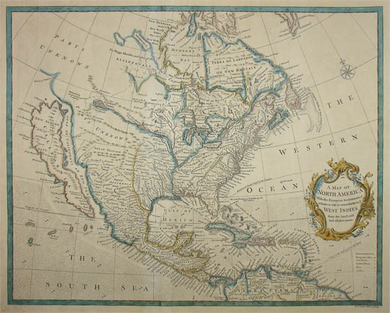 George Glazer Gallery - Antique Maps - 18th C. North America ... on map of the north east region, map of the continent of australia, map of north american countries, map of the north american union, map of the north polar region, map of the north american prairie, drawing of the north american continent, america continent, north and south american continent, map of the north island of new zealand, map of south american continent, map of the north eastern united states, map of southern continent, map of eurasian continent, map of the north america, map of the north africa, map of the african continent, map of european continent, map of the north european plain,