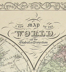 a new map of the world on the globular projection charles de silver philadelphia c 1856 hand colored engraving 8 75 x 13 25 inches border