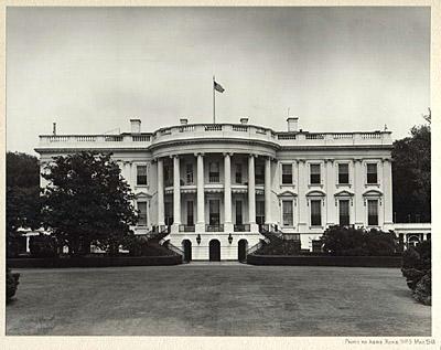 George Glazer Gallery - Antique Prints - The White House ... 1940s White House Scottie