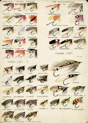 george glazer gallery - antique prints - charles liedl fly fishing, Fly Fishing Bait