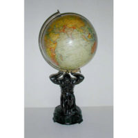 Geographia, Ltd. 10-Inch Terrestrial Globe on Atlas Figural Base