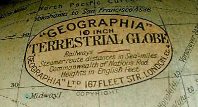 Geographia, Ltd. 10-Inch Terrestrial Globe on Atlas Figural Base, detail