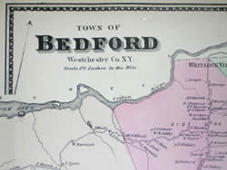 Map, Bedford, New York